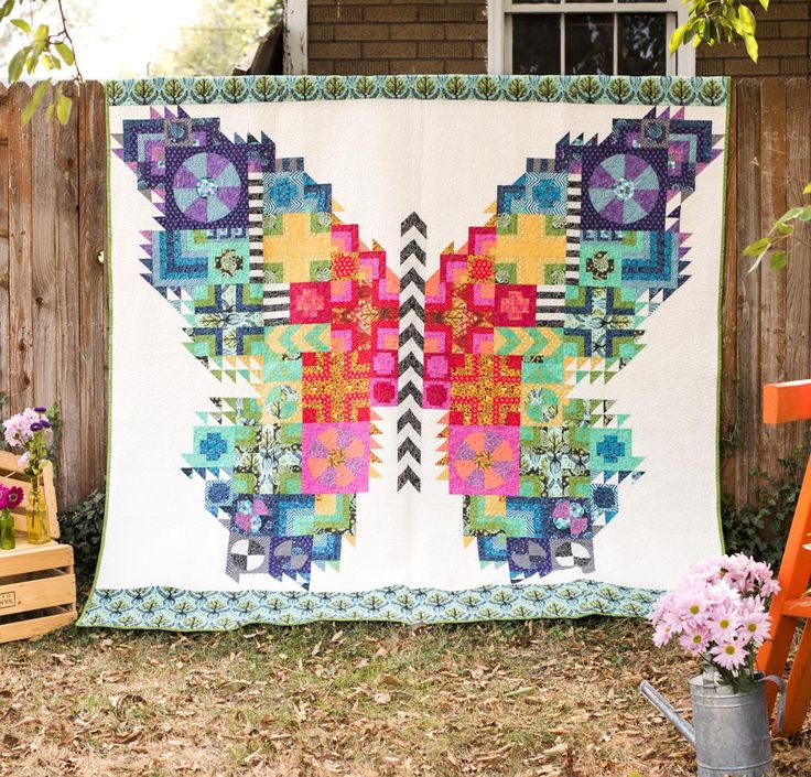 FreeSpirit True Colors The Butterfly by Tula Pink Quilt Kit - White