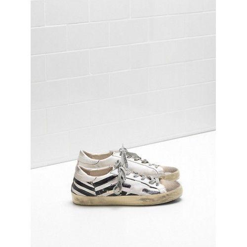 Outlet Buona Golden Goose DB Super Star Donna Sneakers Bianco Nero - Scarpe Golden Goose Super Star Donna