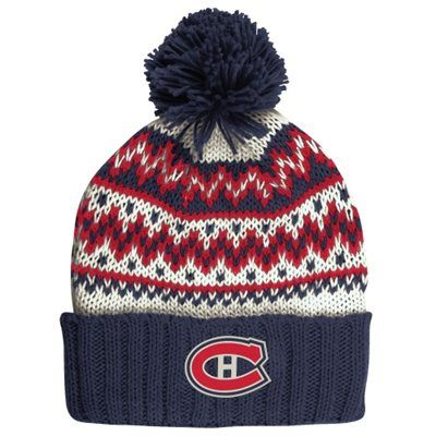 Women's Montreal Canadiens CCM Navy Blue Cuffed Current Knit Hat