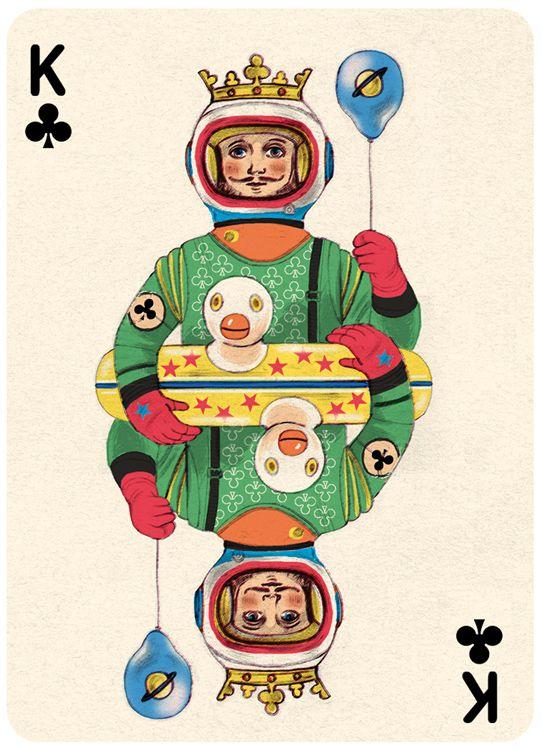 King Clubs Playing Card Illustration by Jonathan Burton