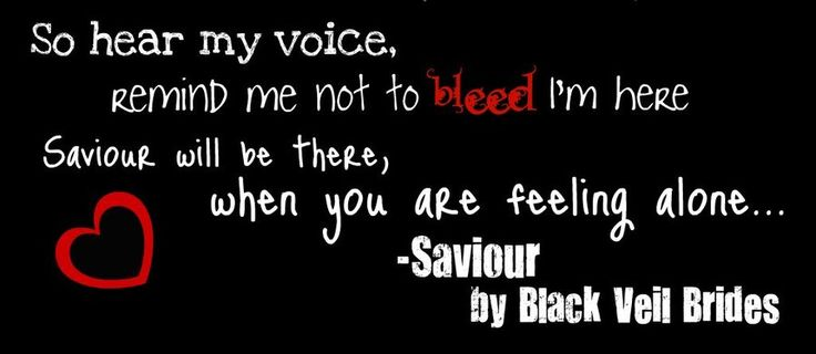 black veil brides quotes from songs - Google Search
