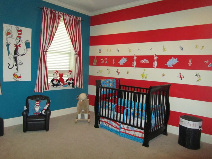 Just the blue wall, for two to three walls and then the Stripes as an Accent wall Mommas Boytique