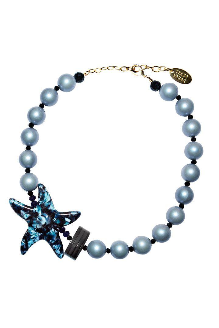 33e6b4844257 Collar corto de la Colección Primavera Verano 2019 de TERIA YABAR de 50 cm  formado por
