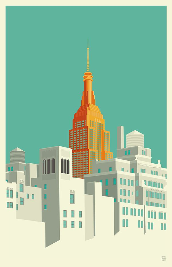 View from the Highline NYC  by Remko Heemskerk, via Behance