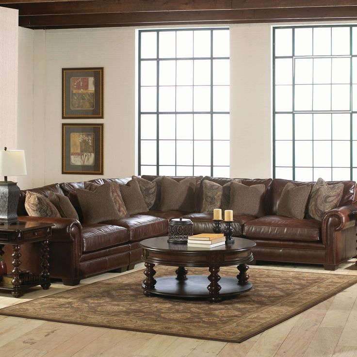 Grandview Sectional In Love Leather And Living Room