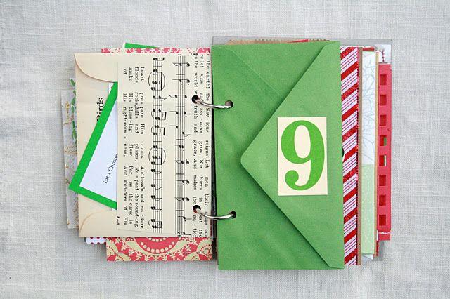 Advent envelope mini book