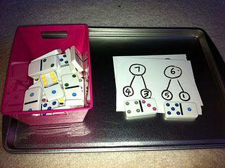 Math fact practice using dominos
