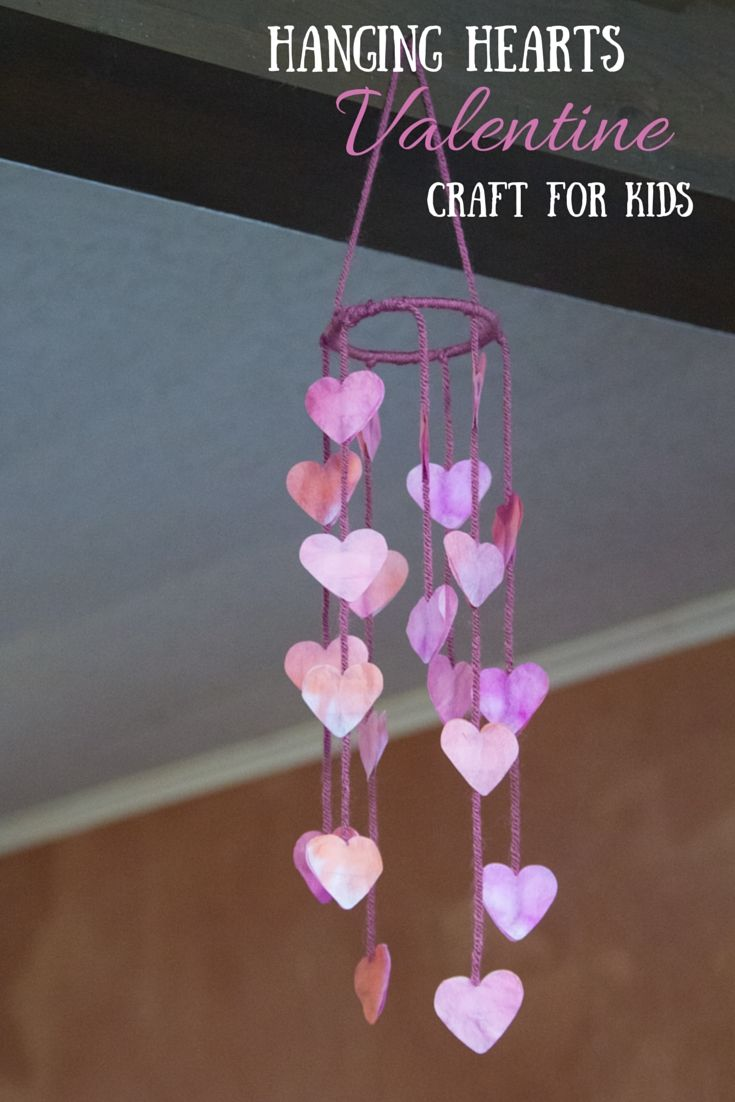 DIY Craft: Create this easy and lovely Hanging Hearts Easy Valentines Craft with your kids - My Little Me