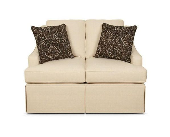 this petite traditional group features a dressmaker skirt sloped arm and contrasting loveseat sleeper sofaengland