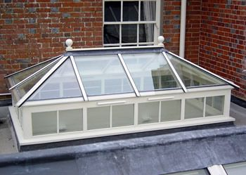 Rectangular roof lantern.
