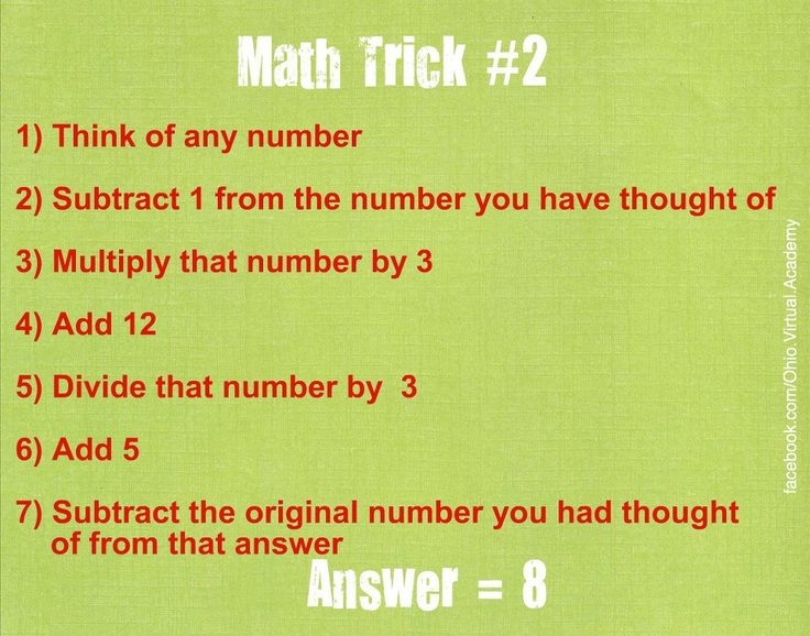 Pinvolve mind blown tricks math magic tricks learning math tricks
