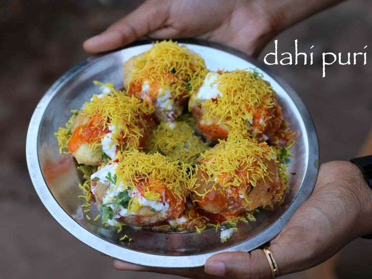 dahi puri recipe | how to make dahi batata puri with step by step photo/video. popular indian street food recipe served with yogurt/curd, sev and chutney.