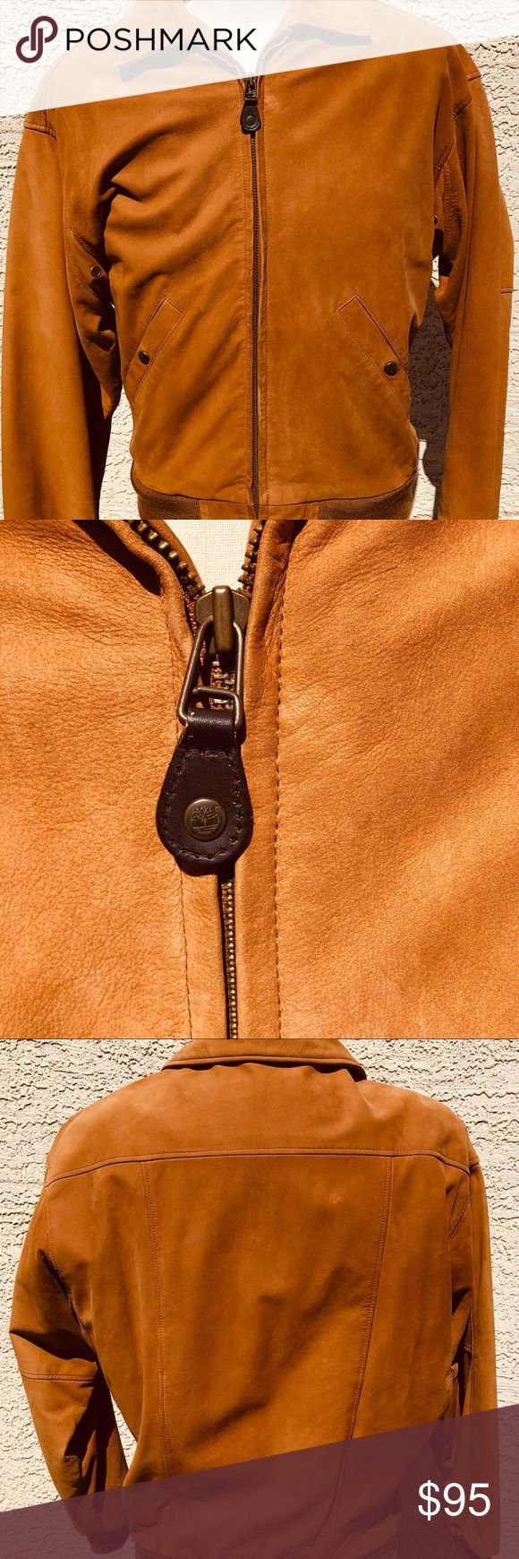 Timberland Suede leather jacket small Great condition