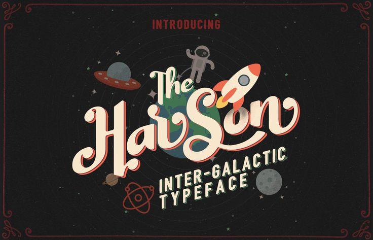 Introducción de tipos de letra gratuitos intergalácticos de Harson