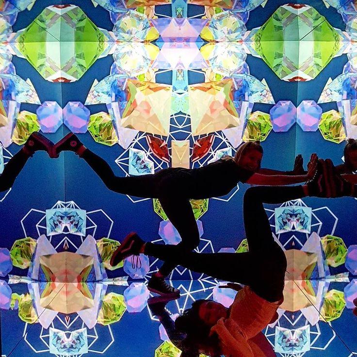 Infinity Mirror World at the Lululemon afterparty.  #leadinluon #newmedia #lululemon #yoga