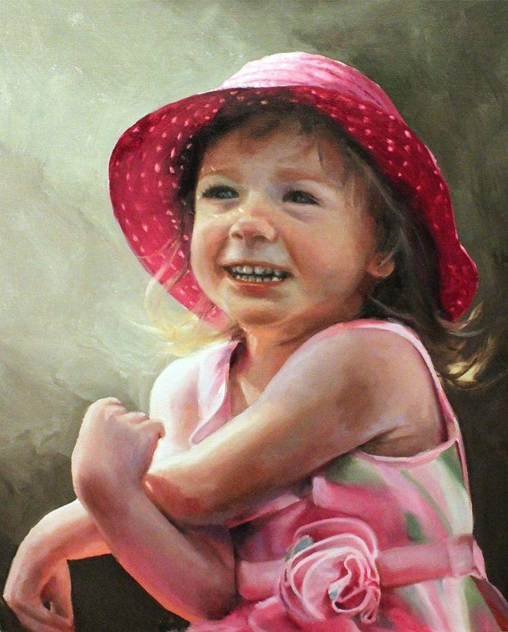 Portrait Painting. Oil On Canvas