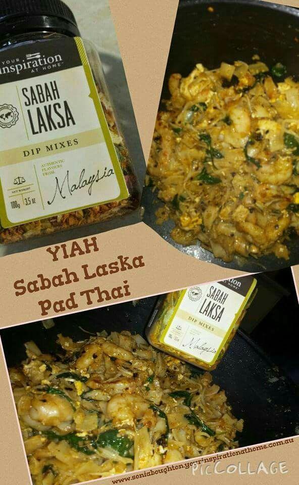 YIAH Chicken & Prawn  Sabah Laska Pad Thai