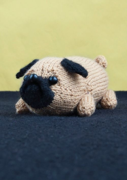 knittedcreations:  Jolly The Pug *PDF* Toy Dog Amigurumi DK Knitting Pattern by Sincerely Louise by sincerelylouise (2.99 GBP) http://ift.tt/1qxcWaE