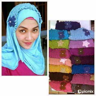 Hijab instan bunga