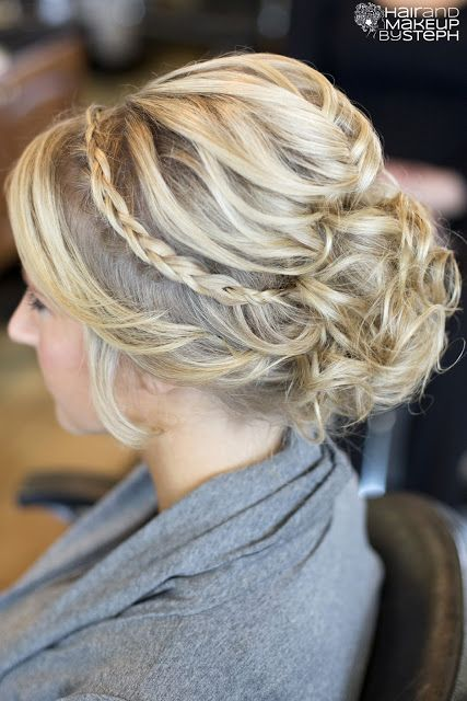 wedding hair - up do, braid, bun