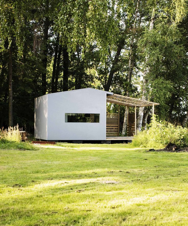 Swedish architect Jonas Wagell has developed a prefabricated cabin concept that takes up a mere 160 square feet.
