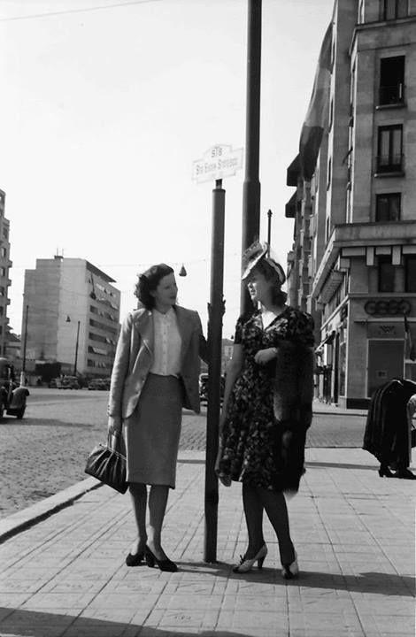 Bucureşti Pe bulevard. Primăvara anului 1941 foto: Willy Pragher