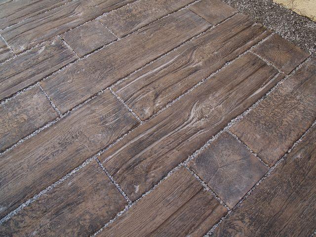 """""""dřevěná"""" dlažba detail"""