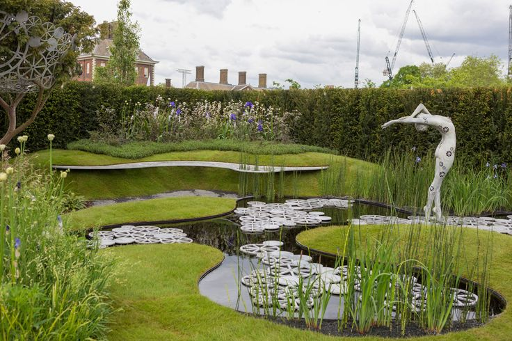RHS Chelsea Flower Show 2016 / Imperial Garden - Revive. I love the use of different levels and curves, and of course the water