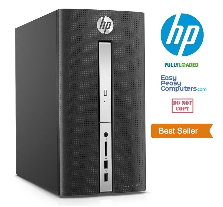 Cheap Computers - NEW FAST HP Desktop Computer Pavilion Windows 10 8GB 1TB DVD+RW (FULLY LOADED) - EasyPeasyComputers