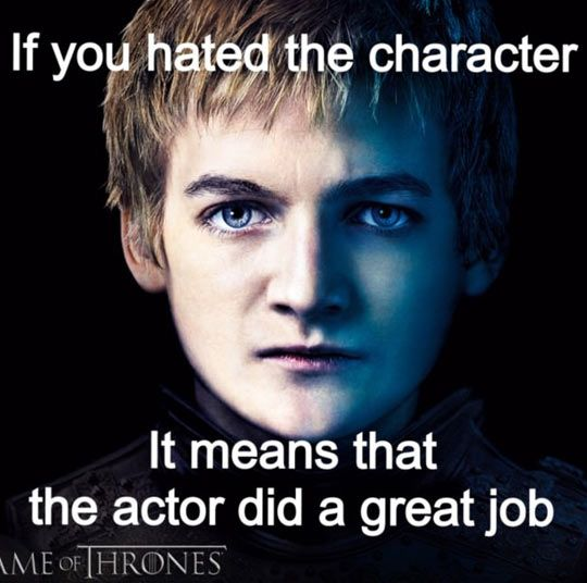 (for all the fools out there)   I have immense respect for Jack Gleeson's acting talent!