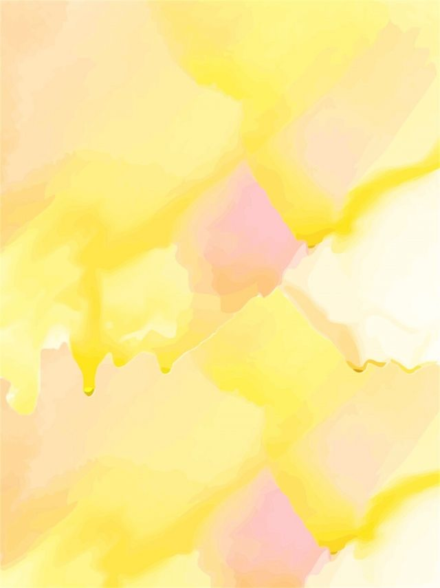 Watercolor Drips Light Yellow Poster Background Colorful