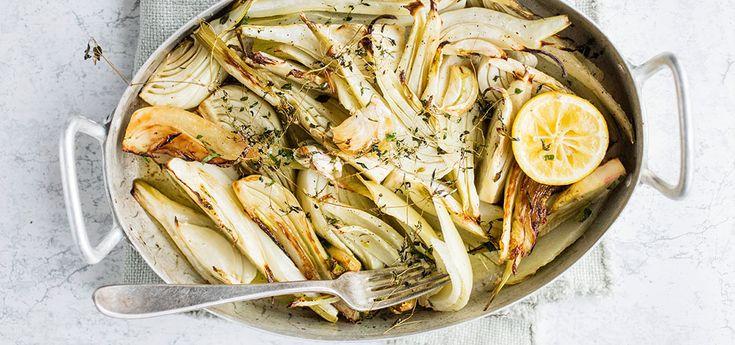 Ovnsbakt fennikel med timian og sitron | Lises blogg