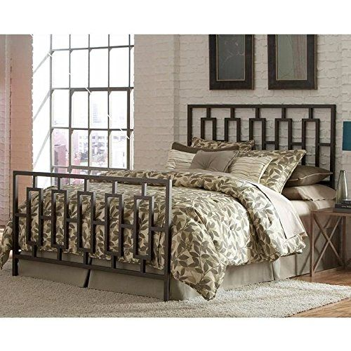 contemporary styling Coordinates easily with most color schemes Headboard and footboard constructed from square tubing
