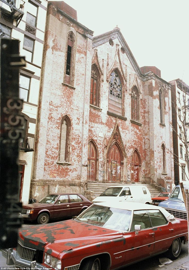 This circa 1983-1988 photo provided by the New York City Municipal Archives shows 172 Norfolk Street, which is now the Angel Orensanz Foundation, in New York. Over 800,000 color photographs were taken with 35-mm cameras for tax purposes. Every New York City building in the mid-1980s can be viewed in this collection.
