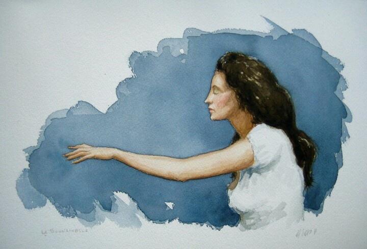 Sonnambula, watercolor, 20cm x 30cm, by Matthew James Collins