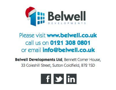 Merry Christmas from all at Belwell Developments #christmas