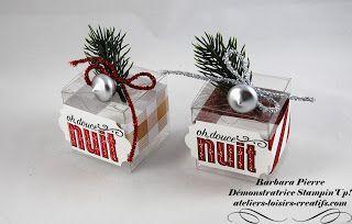 Barbara, démonstratrice STAMPIN'UP!: Des petites boîtes à chocolats pour noël...