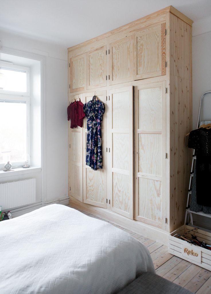 Jessica Silversaga, bedroom, storage, carpenter, wardrobe, wood, home, interior, wooden floors, bed, high ceilings
