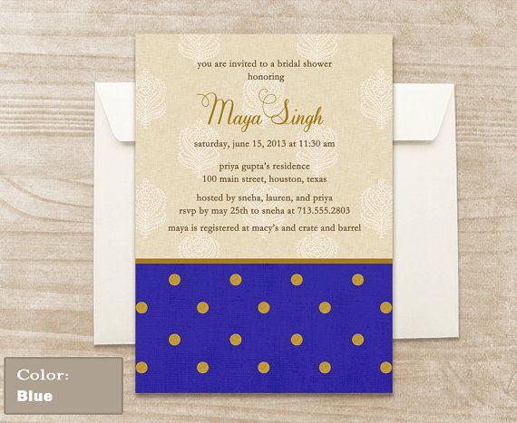 Dot Motif Invitation by CraftCoutureStudios on Etsy, $2.00