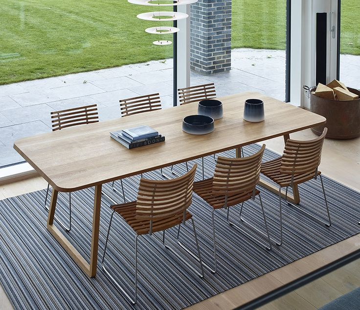 Danish Solid Wood Rectangular Dining Table Shown In Oak
