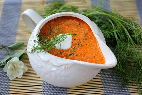 Томатно-сметанный соус для голубцов
