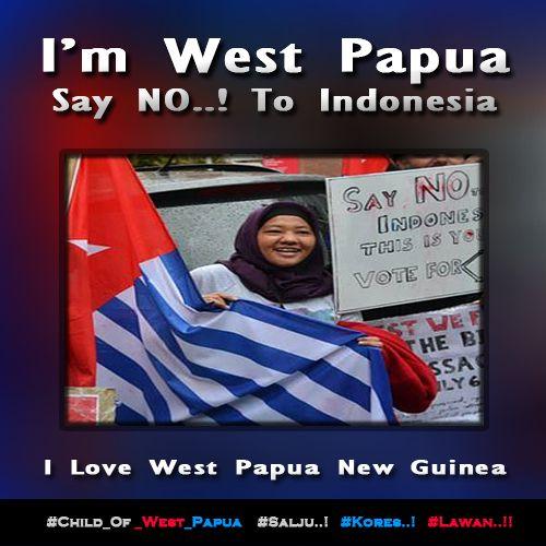 I'm West Papua. Say No..! To Indonesia. http://bit.ly/1BIt5ma  #Free_West_Papua #Salju #Kores #Lawan