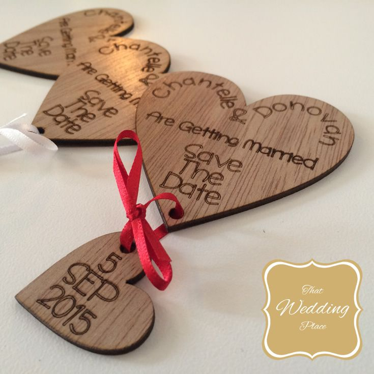 Wedding Save The Date - Heart Ribbon