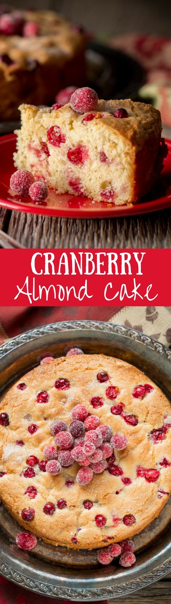 Cranberry Almond Cake - perfect as a breakfast cake, a light dessert after lunch or an anytime snack cake.  www.savingdessert.com