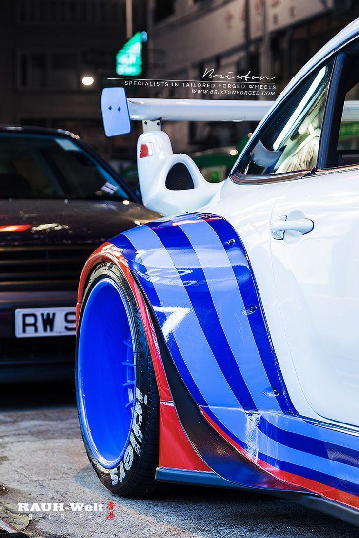 "RWB Hong Kong - Porsche 993 on 18"" Brixton Forged VL20 Circuit Series wheel finished in Trofeo Blue"