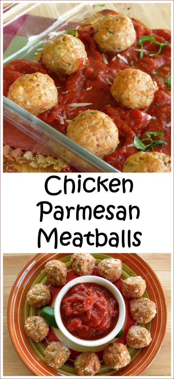 Baked Chicken Parmesan Meatballs - All the ingredients of this family favorite recipe packaged into meatballs. Soo easy. Freezer-friendly too!