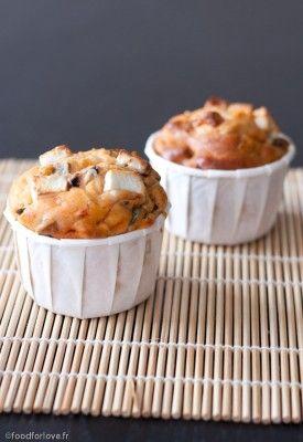 Muffins à la Ratatouille, Fêta et Olives Noires Sans Gluten - Food for Love