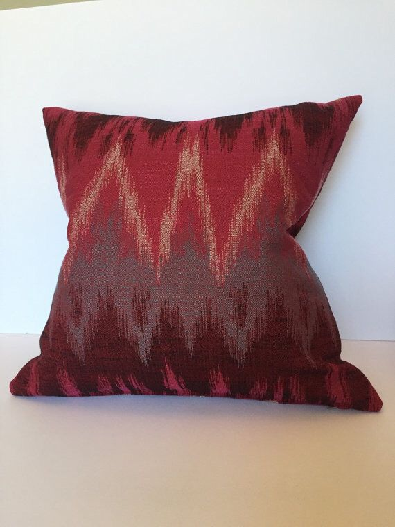 Pillow Cover, Boho pillows, Red Pillow cover, Pink pillow covers, Flamed pillow covers, berry red pillows, red pillows, Tribal pillow by HacknerHome on Etsy https://www.etsy.com/listing/266323119/pillow-cover-boho-pillows-red-pillow