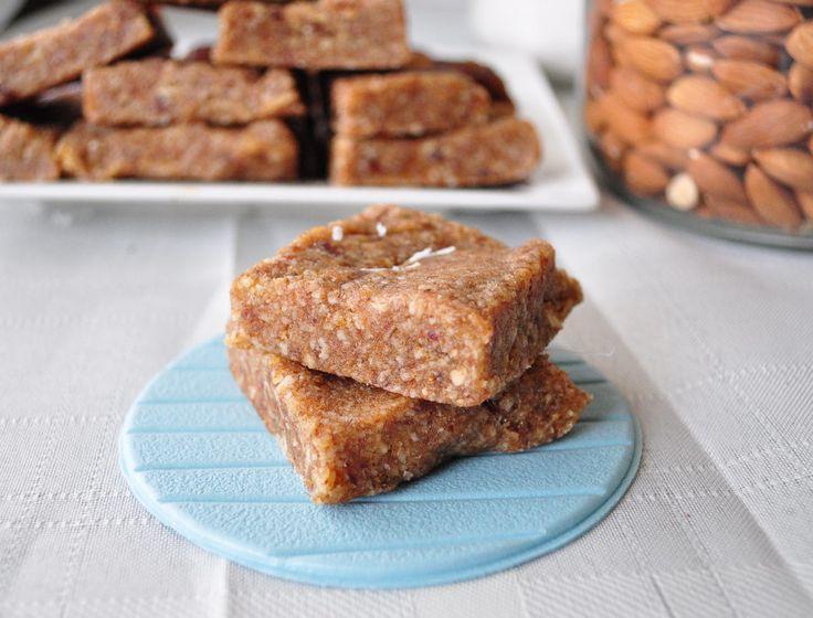 My Whole Food Life | Coconut Cream Larabars. Dates, almonds, cashews, coconut, coconut oil.