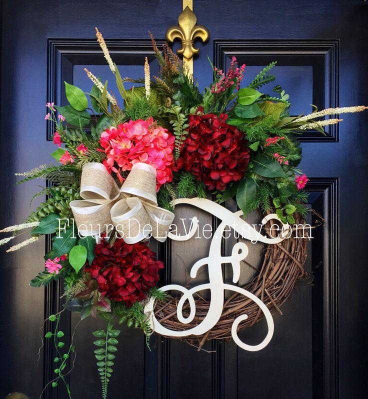 Spring Wreaths for Front Door Monogram Wreaths